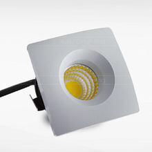 Free shipping  5W Dimmable Foyer living sitting recessed micro miniature spot down light small mini COB square LED downlight