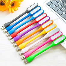 Mini LED USB Flashlight Reading Light Flexible Bright Night Lamp Portable lanterna Lighting Tablet PC Power Bank Notebook Laptop(China)