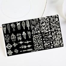1Pcs Image plate YICAI-09 XL Summer ICECREAM Nail Art Stamping Template, 1PC Transfer Print Plates MFNAILS