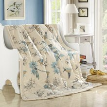 fresh style magpie beige pastoral summer comforter 150*200cm 200*230cm size quilted Quilt thin Blanket Plaids(China)