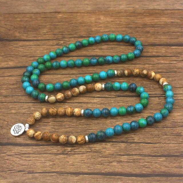 Collier Bracelet Mala Pierre Naturelle