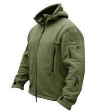 TAD Freien Militärische Taktische Soft Shell Fleece Hoody Jacket Men Sportswear Thermische Hoodies Jacke