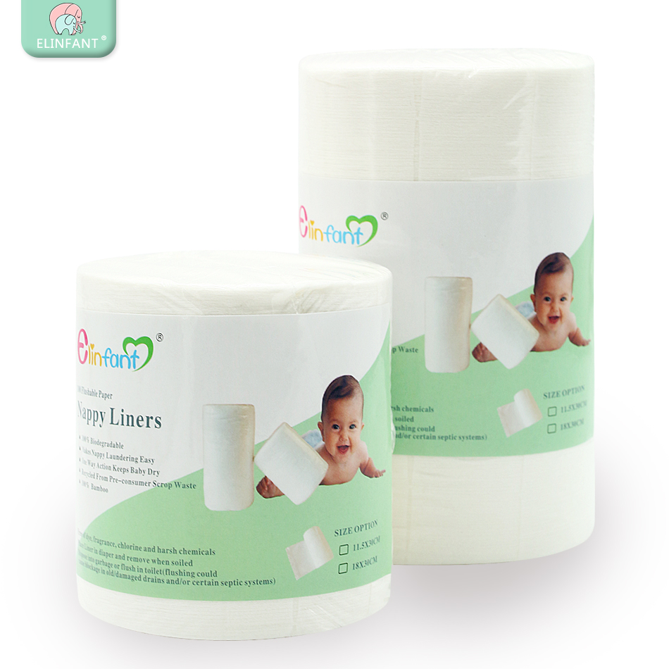 Flushable Biodegradable Diaper Lining Disposable Baby Diaper Diaper Pad