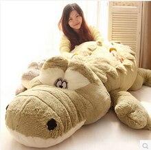 Neue Ankunft 200cm Nette tiere Große Größe Simulation Krokodil Haut Plüsch Spielzeug Kissen Kissen Spielzeug Für Mädchen kinder spielzeug
