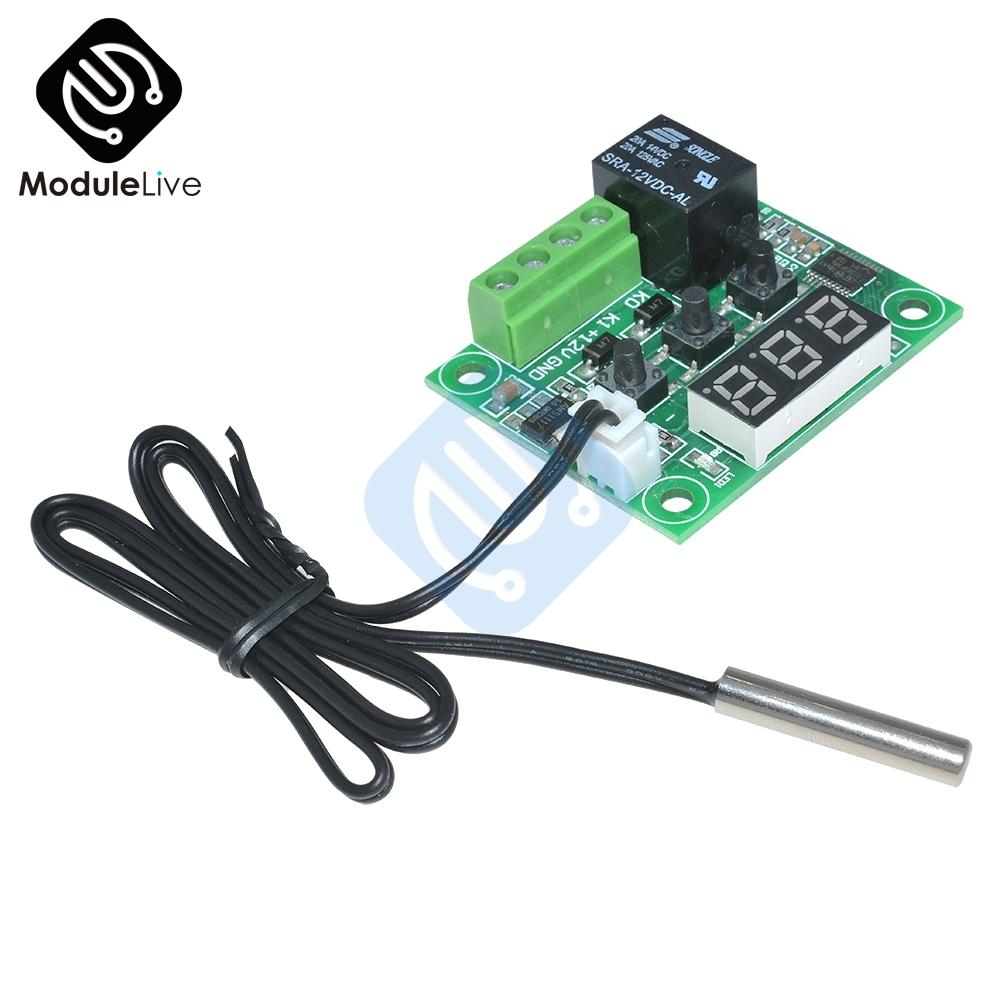 DC 12V W1209 LED Digital Thermostat Temperature Control Thermometer Thermo Controller Switch Module Waterproof NTC Sensor Board w1209 green led digital thermostat temperature control thermometer thermo controller switch module dc 12v waterproof ntc sensor