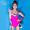 New Fashion Jazz harem ds women hip hop dance Bodysuit costume performance wear color space neon ds stage coverall Bodysuit