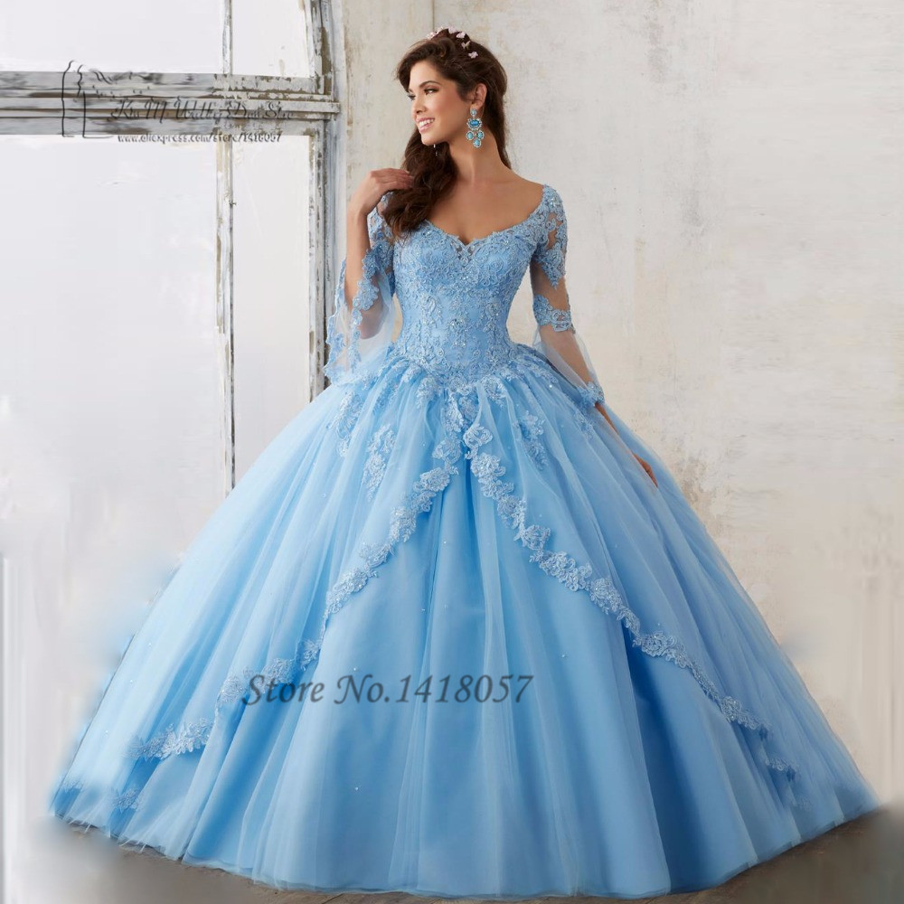 Online Get Cheap Long Sleeve Quinceanera Dresses ...