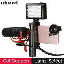Ulanzi De Poche Smartphone Vidéo Stabilisateur Ensemble Entrevue Microphone Vidéo Poignée Grip pour Cinéma Youtube Live Streaming