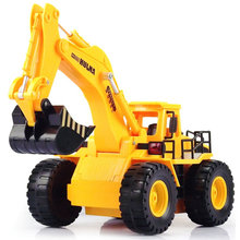 2016 new free shipping 6CH RC hydraulic excavator remote control toys rc tractor truck brinquedos carros radio-controlled toys