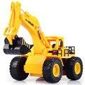 2016 nova frete grátis 6CH RC escavadeira hidráulica caminhão trator brinquedos carros rc brinquedos de controle remoto brinquedos controlados por rádio