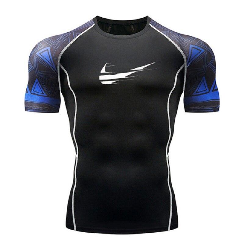 Rashguard männer Kurzarm Laufhose T-Shirt Sport männer Lauf Fitness Sportswear Bodybuilding Marke Kompression Shirt
