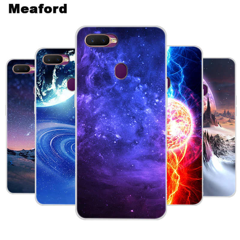 Silicone Case For OPPO A7 Cover AX7 Soft Art Star Space Print Back Cover For OPPO A5S AX5S AX7 Pro A7 Clear bumper Phone Case