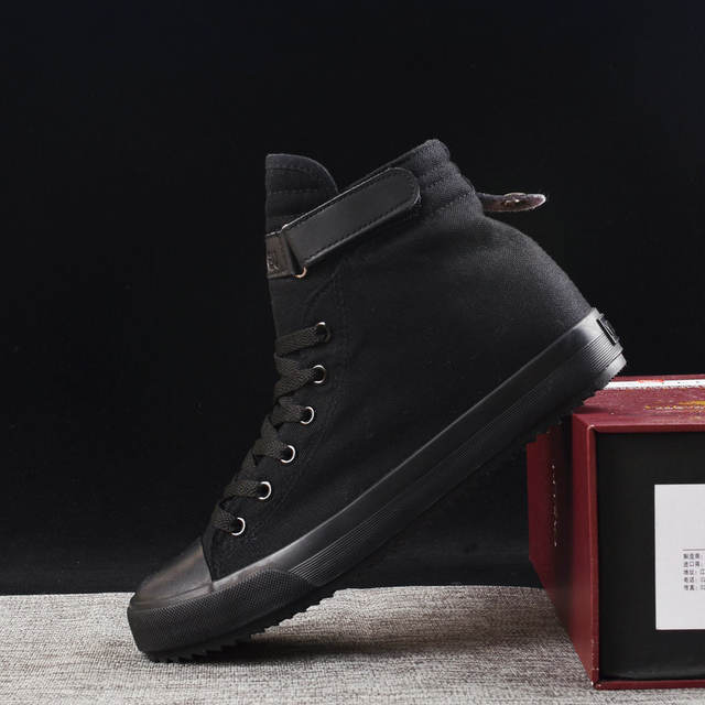 2019 New Arrival Summer Fashion Men Flats Shoes All Black White red Casual Shoes Mens Canvas Shoes Lace-Up high top shoes251