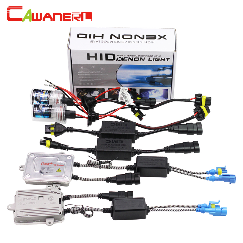 Cawanerl 55W H1 Canbus HID Xenon Kit 3000K-12000K Lamp AC Ballast Anti Flicker Error Decoder Replacement Car Headlight Fog Light buildreamen2 9006 hb4 55w no error hid xenon kit 3000k 8000k ac ballast bulb canbus decoder anti flicker car headlight fog light