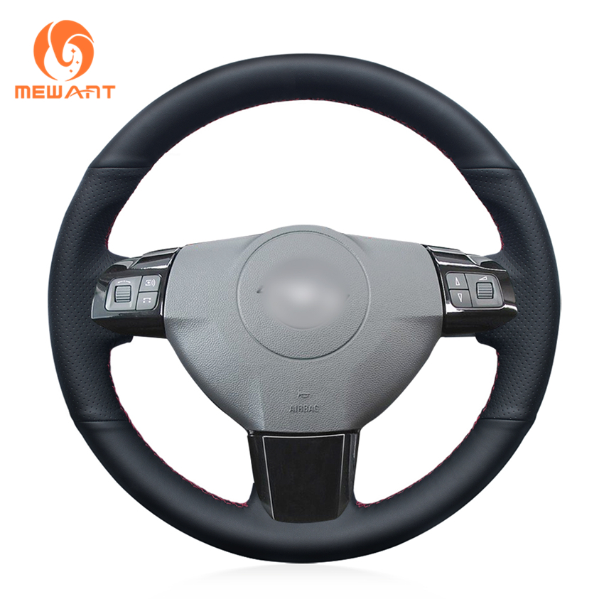 MEWANT Black Artificial Leather Car Steering Wheel Cover for Opel Astra 2004 2005 Opel Corsa 2009 Opel Zaflra 2004-2006 mewant black artificial leather car steering wheel cover for peugeot 206 1998 2005 206 sw 2003 2005 206 cc 2004 2005