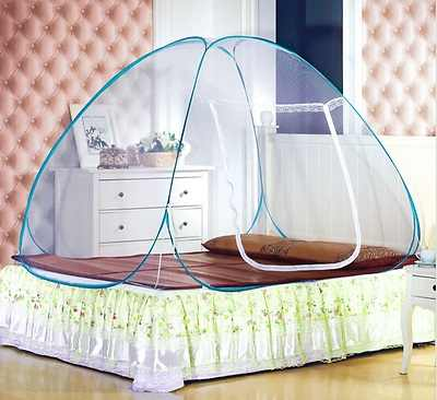 Foldable Automatic Installation Yurt Camping Mosquito Nets Yurt Prevent Insect Pop Up Tent Curtains for Beds Bedroom Decor