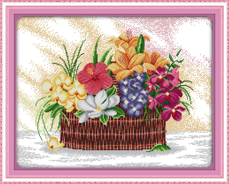 Blossoms scent the air, counted printed on fabric DMC 14CT 11CT Cross Stitch kits,embroidery needlework Sets, Home Decor