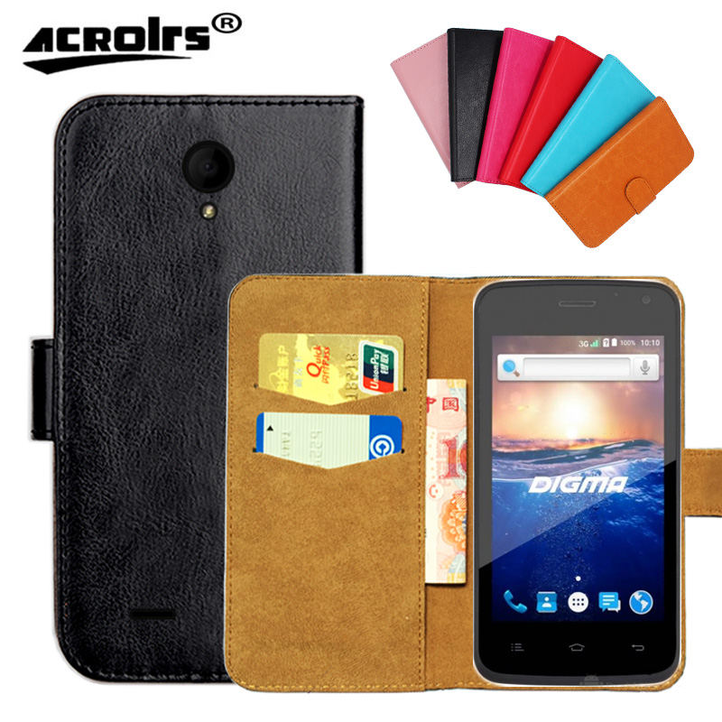 Original ! Digma Hit Q400 3G Case ,6 Colors High Quality Leather Exclusive Cover Phone Bag Tracking