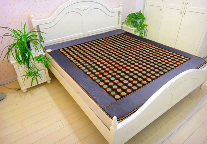 Hot new product for 2018 quality electric FIR heating sleeping jade massage mattress heating jade cushion Free Gift eye cover 2017 hot product free eye cover china wholesaler germanium thermal heating jade cushion free shipping 50 150cm