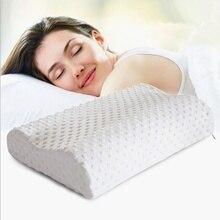 Alta Calidad Cuello Almohada Terapia de Promoción Al Por Menor de Fibra de Espuma de Memoria Lenta recuperación Atención de La Salud Cervical Almohada 50*30 CM