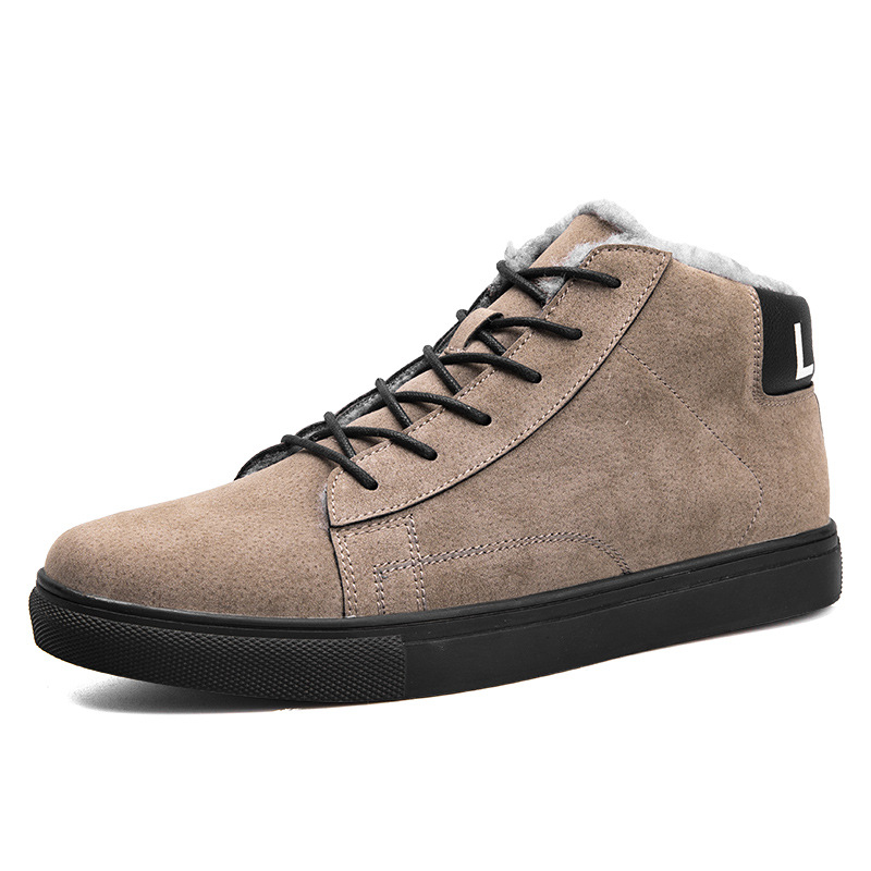 E De Lining Sapatos 2018 Para Casuais top High Lining Outono Quentes Chegada Homens Tornozelo mesh Nova velvet Couro Inverno Lining Dos Baixos Camurça Mesh wdq8H6cw