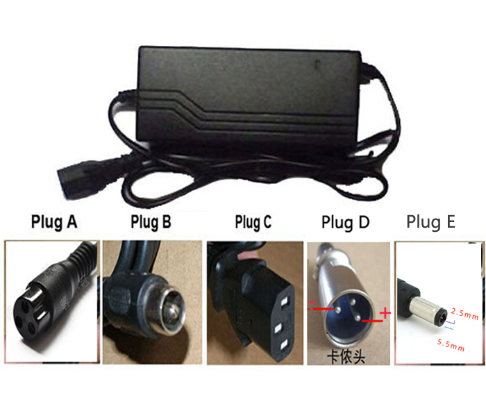 Electric Bicycle 48V 1.8A 1.6A 8AH 10AH 12AH For Lead-acid Batterie Charger Ebike Scooter Wheelbarrow With US EU Plug