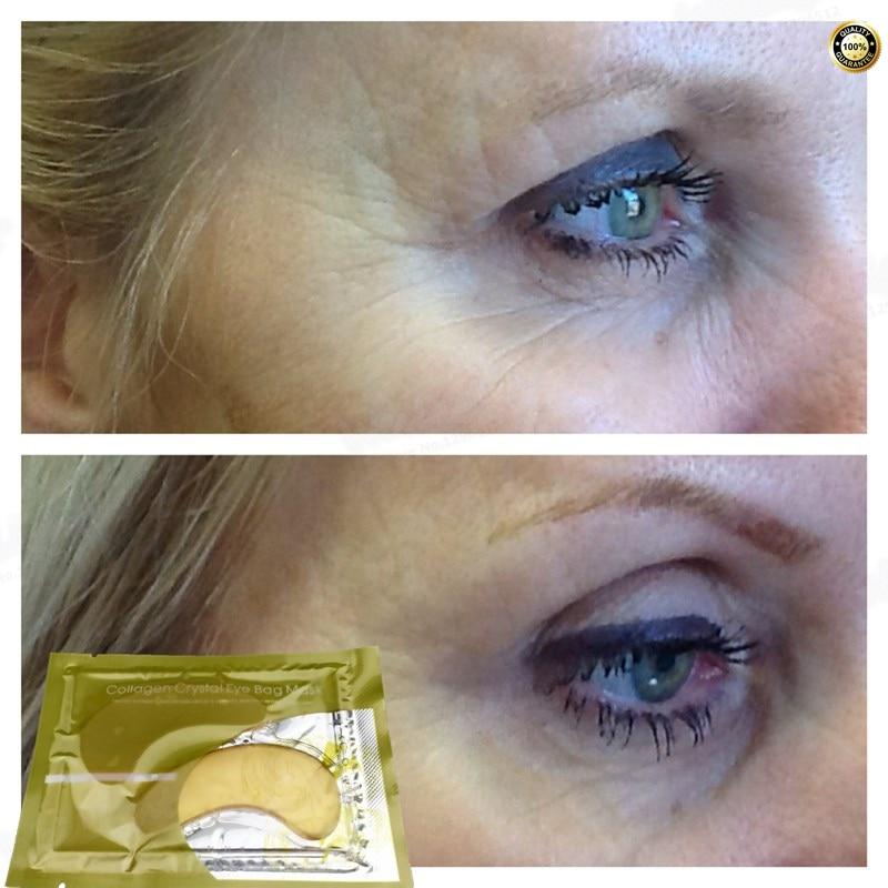 Natural crystal collagen gold powder eye mask,Anti-Aging ,Anti-puffiness, Dark circle, Anti wrinkle Eyes Care Skin care 1 Pair