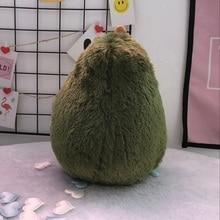 Güzel karikatür rahat avokado yastık sevimli yakışıklı avokado peluş oyuncaklar doğum günü hediyeleri kawaii hediye