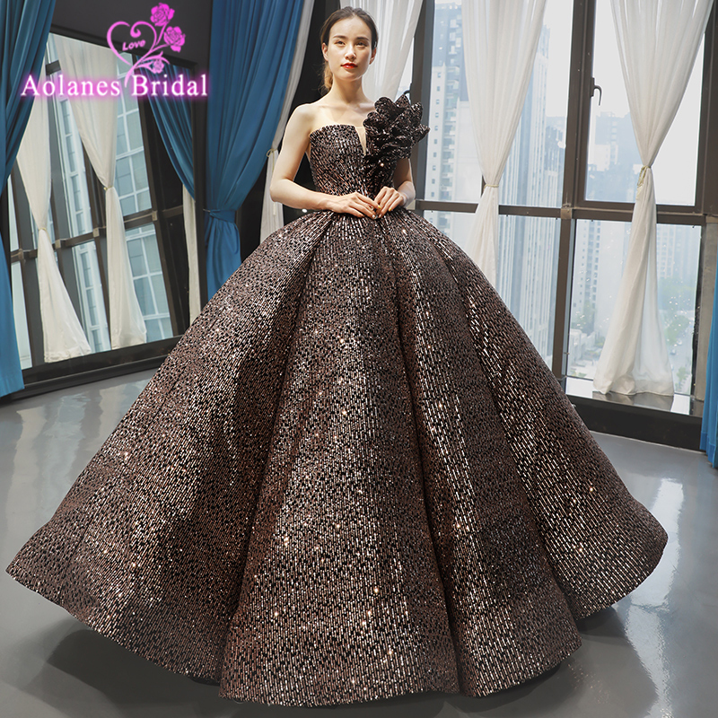 Luxury Crystals Sweet 16 Dress Plus Size Off The Shoulder Corset Ball Gown Evening Dresses Sequined Tulle Prom Party Dress