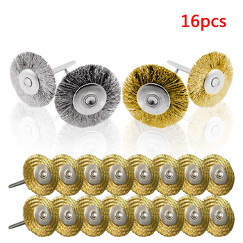 цена на Mini Drill Grinder Rotary Tools Stainless Steel Wire Wheel Brushes Set  Polishing Dremel Brush  Abrasive Accessories