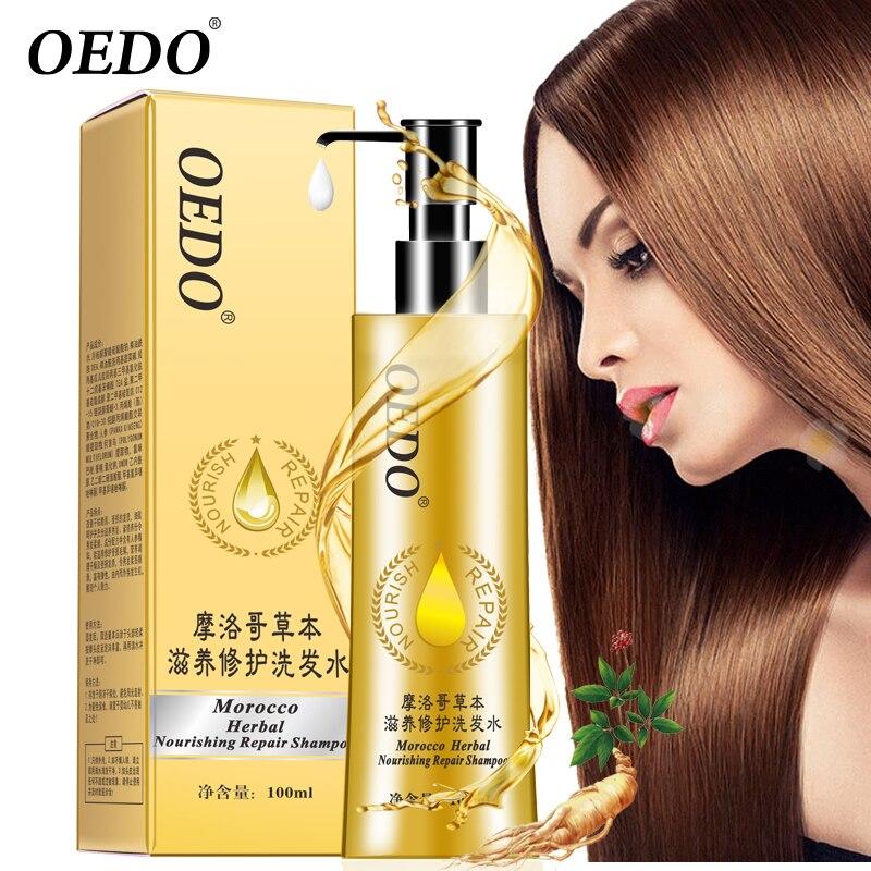 OEDO Maroc À Base de Plantes Nourrissant Réparation Shampooing Améliorer Sec et Fragile Soins Des Cheveux & Styling Ginseng Essence Faire Cheveux Sérum Souple