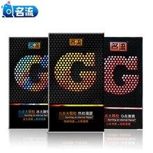 10pcs/pack condom sex ice fire 3D dotted G-Spot Nautural latex penis condoms for men Dot pleasure Contraception Sex toys Mingliu