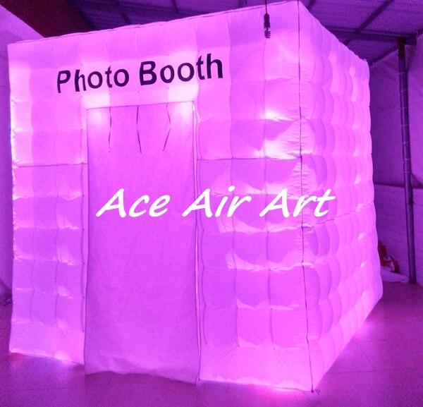 Aanpassen prachtige verlichting opblaasbare cabine huren photo booth ...