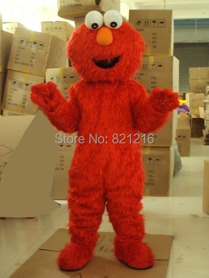 Professional Sesame Street Elmo Red Monster Mascot Costume  for Halloween party event