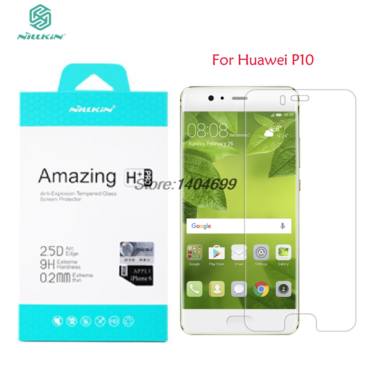 """Huawei P10 Tempered Glass Nillkin Amazing H+PRO 9H 0.2mm 2.5D Screen Protector Glass For Huawei P10 5.1"""" Phone"""