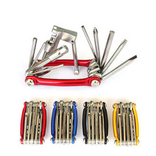 11 In 1 Bike Tools Bicycle Repairing Set Repair Tool Kit Wrench Screwdriver Chain Carbon Steel Multifunction