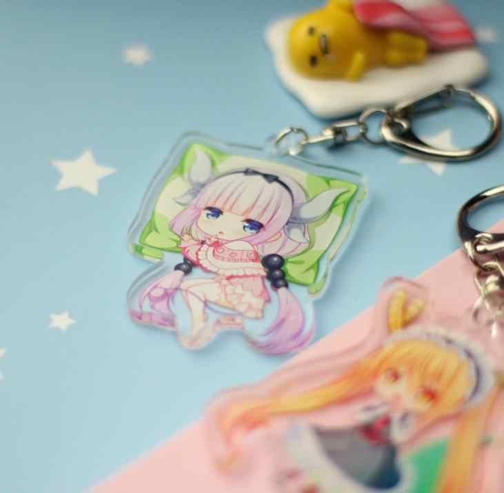 1 Pc nova adorável Anime Dragão Chaveiro Senhorita Kobayashi Kobayashi San Chi Sem Empregada Empregada do Dragão Pingente figura Brinquedos