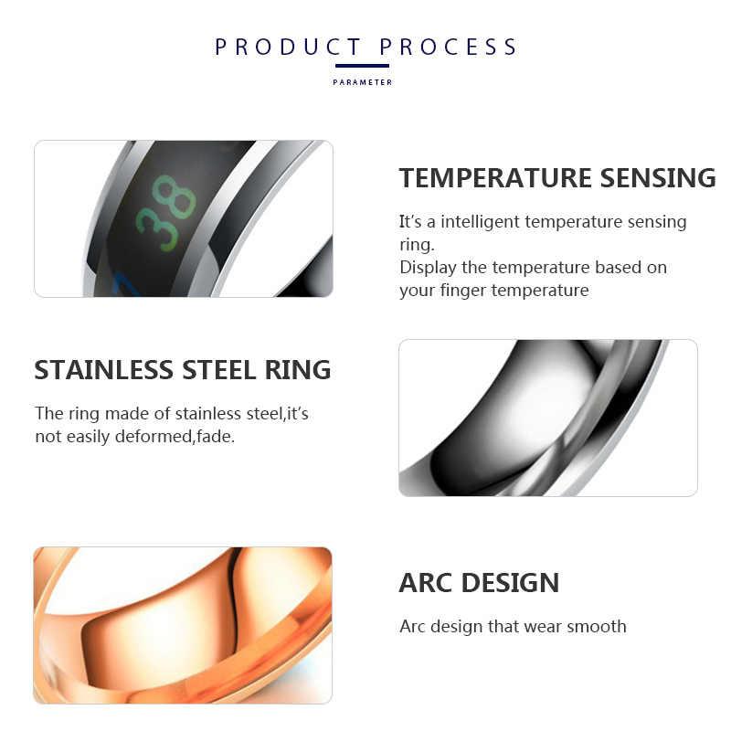 Tanggujin кольцо для мужчин из нержавеющей стали интеллектуальное измерение температуры пара Кольца для женщин влюбленных Обручальное кольцо ювелирные изделия