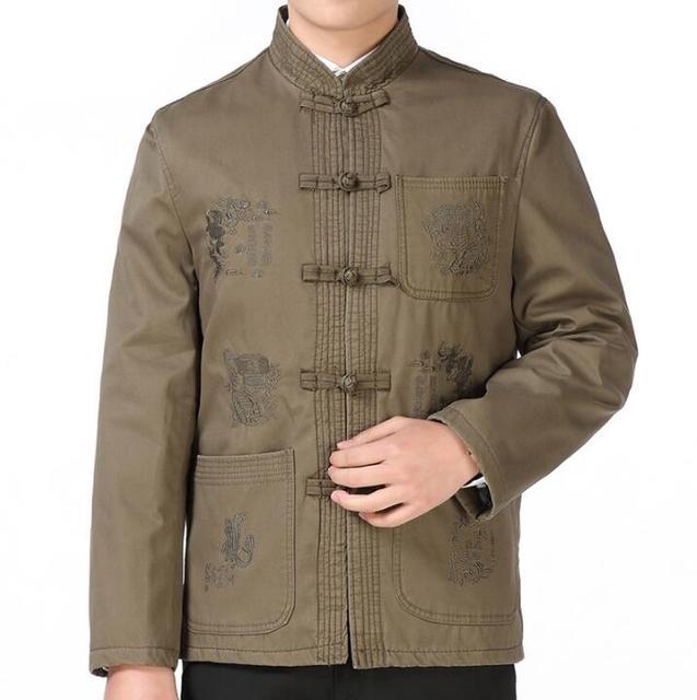 Yg berusia limapuluh tahun kasual blazer pria berdiri kerah pakaian luar jaket  pria pakaian bau baju 0a15a8e146