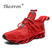 Running Shoes For Men Lace Up Athletic Red Sport Summer Breathable Man Gym Sneakers