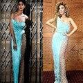 Venta caliente Vestido De Festa Myriam Sweetheart Borla Perlas Sheer Con Cuentas Vestidos de La Celebridad 2015