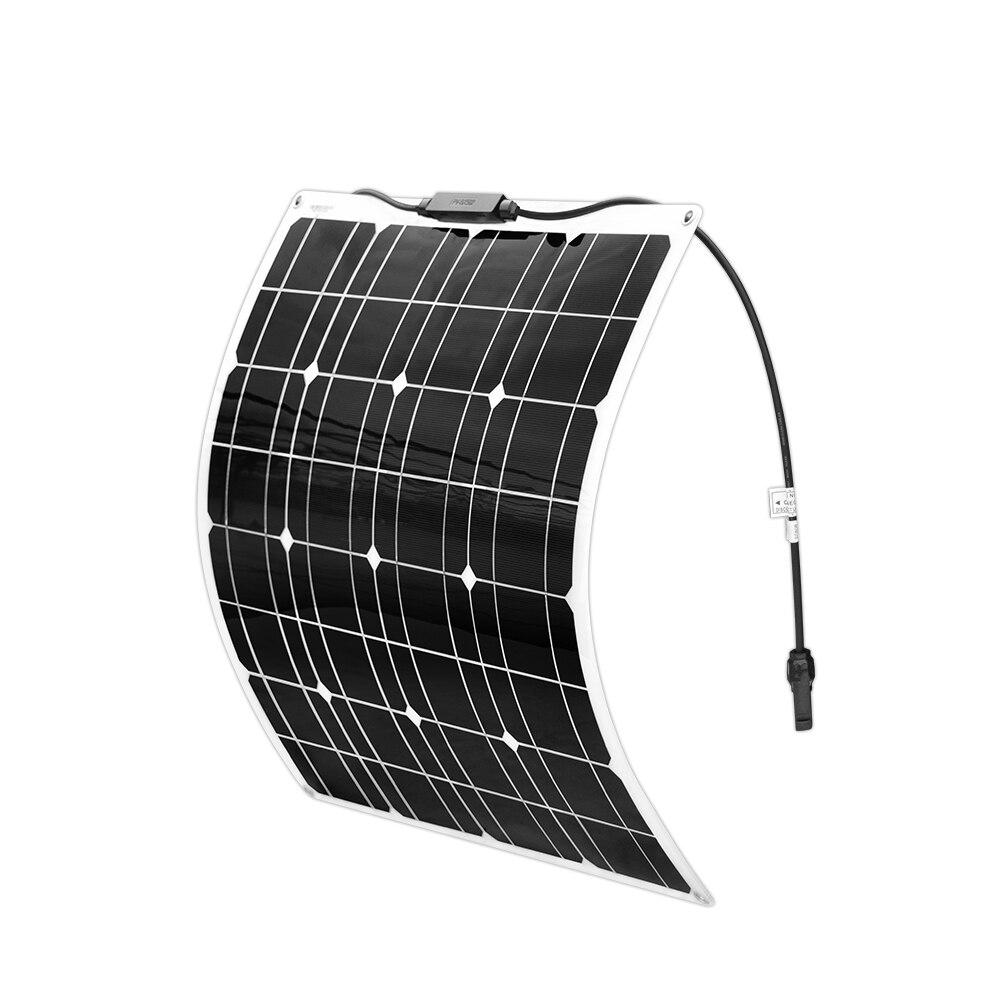 BOGUANG 50 w flexível painel solar de silício Monocristalino carregador de Bateria de celular para 12 V sistema de 100 W 150 W 200 W Panneau solaire