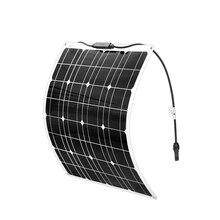 BOGUANG 50w גמיש פנל סולארי Monocrystalline הסיליקון סלולרי עבור 12V סוללה מטען מערכת 100W 150W 200W Panneau solaire