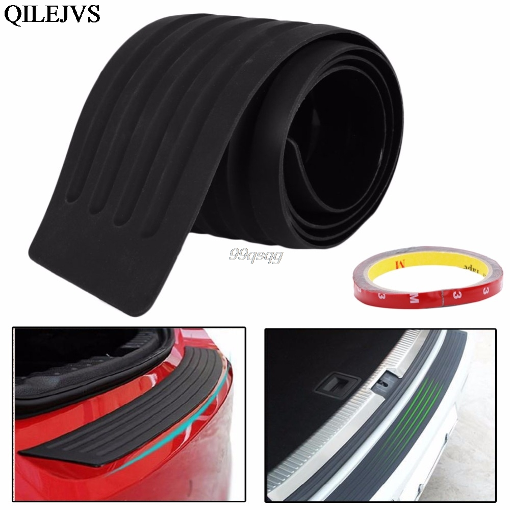 Hot 35 Car Rear Bumper Guard Protector Trim Cover Sill Plate Trunk Pad Kit New Drop shipping car rear trunk security shield cargo cover for volkswagen vw tiguan 2016 2017 2018 high qualit black beige auto accessories