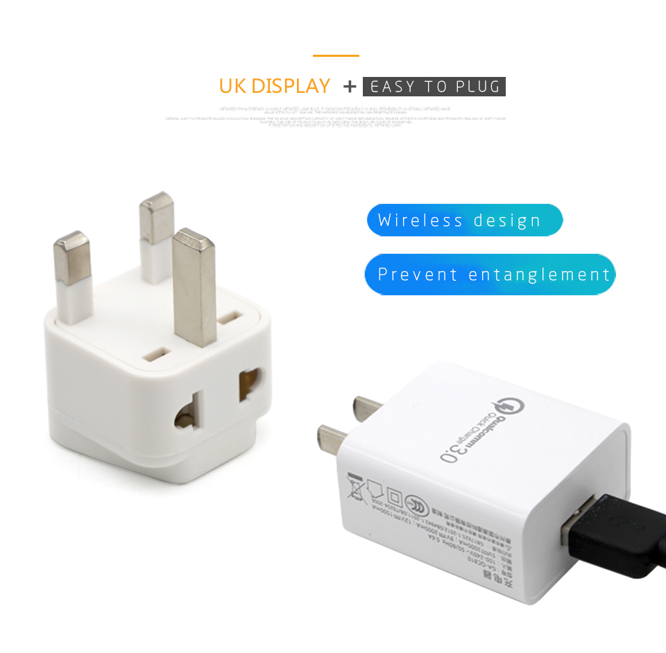 Hot-Sale Universal EU US AU to UK 3 Pin AC Power Socket Plug Travel Charger Adapter Converter 2 Device Charging (10)