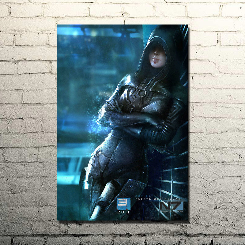 Mass Effect 2 3 4 Hot Shooting Action Game Art Silk Poster Print 13x20 Wall Pictures For Bedroom (click to see more)-5(China)