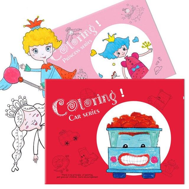 989 3 Piezas Cuaderno Para Colorear Niños Y Niñas Dibujos Animados Pintura Juguetes Para Colorear Juguetes Educativos De Educación Temprana