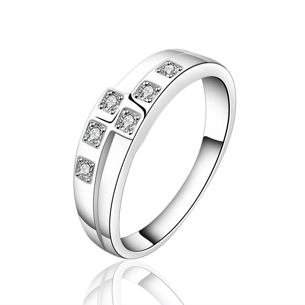 d7513dca91dd Модные кольца Нежный Кристалл ювелирные изделия, серебряные кольца,  предложение очаровательная кольца с камней, серебряные украшения