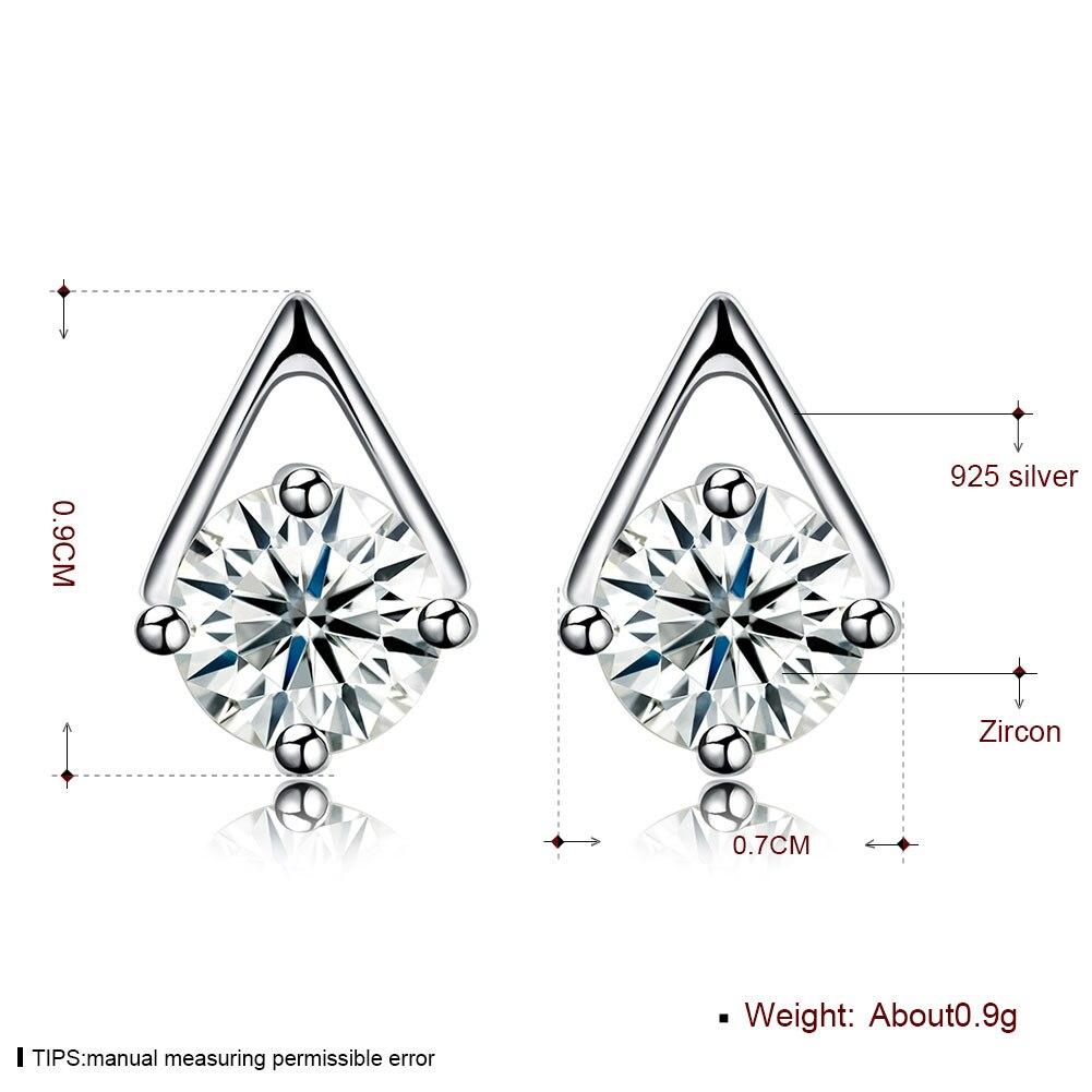 Muto Geometry Style 925 Sterling Silver Stud Earrings Lady