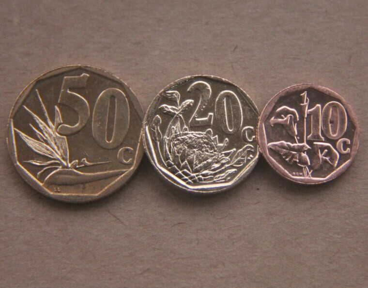 3 PCS SET Coin Of South Africa 10 20 50 Cents Currency Collectibles Commemorative